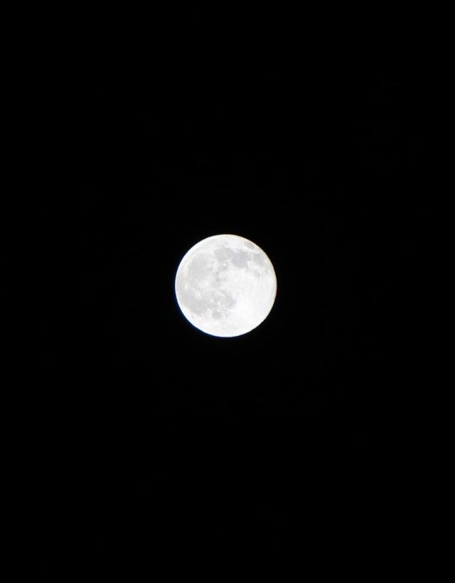 Denver moon at night - 9:30 p.m.